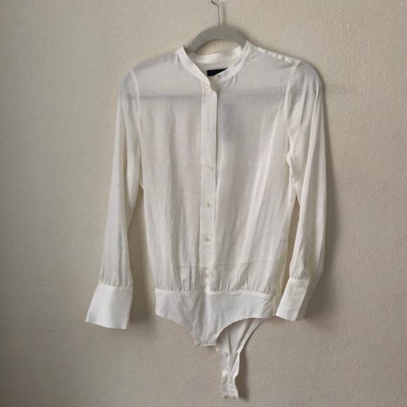 f130f770 J. Crew Tops | Jcrew Stretch Tailored Perfect Bodysuit In Silk ...